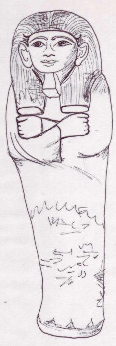 Freuds Shabti drawing Bev Dunbar The Gilded Image